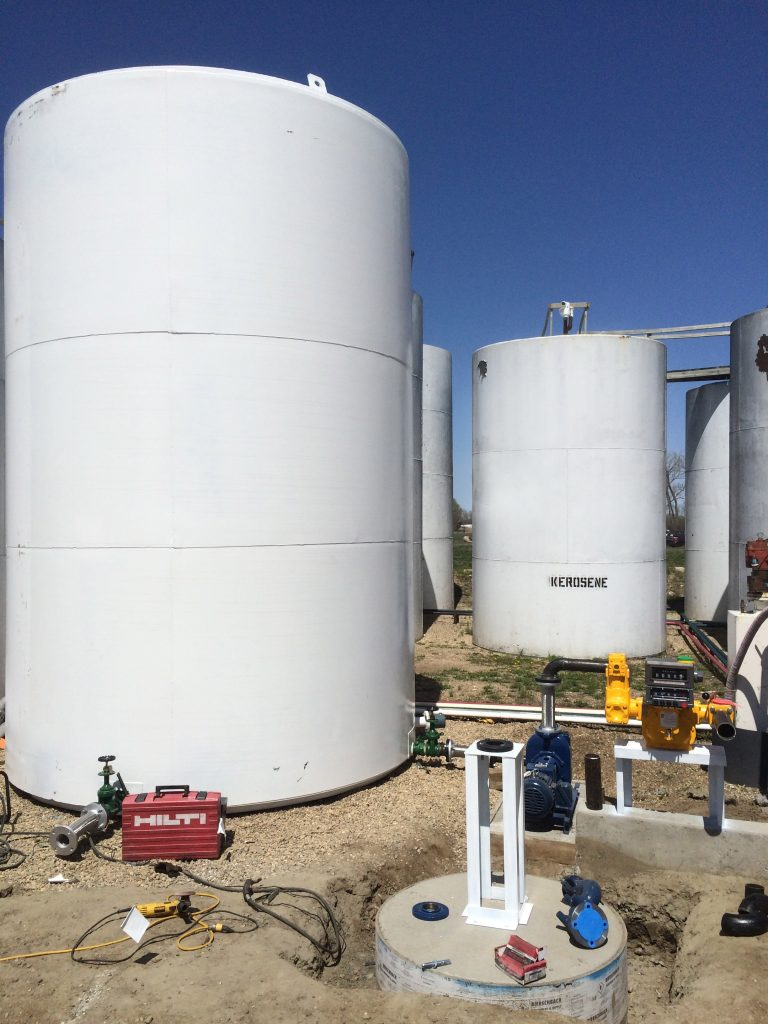 Gerstner Oil in Yankton works on installing a Biodiesel Blending Tank. Blends up to B100 will be available to customers.