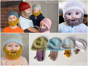 Bobble-Crochet-Beard-Beanies