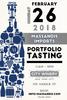 Portfolio tasting 2018 invite