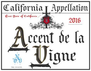 2016 accent de la vigne pinot noir front cola