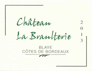 Label bordeaux white