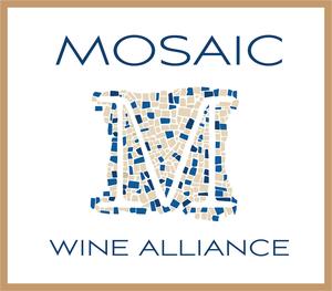 Mosaic wine alliance logo w blue tiles