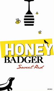 Honey badger sweet red nv front label