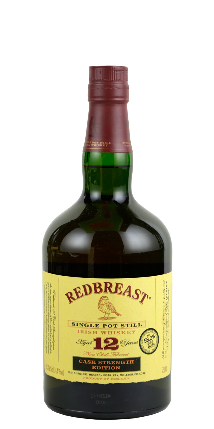 Redbreast Whiskey 12 Year Old Irish Whiskey Cask Strength 111.6 Proof
