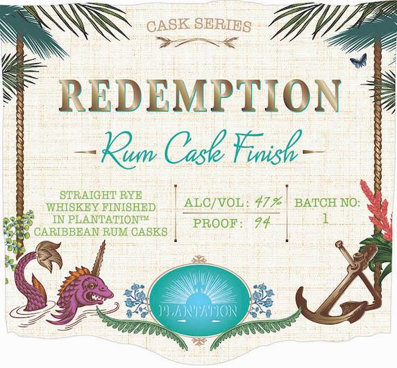 Redemption Cask Series Rum Cask Finish Straight Rye Whiskey