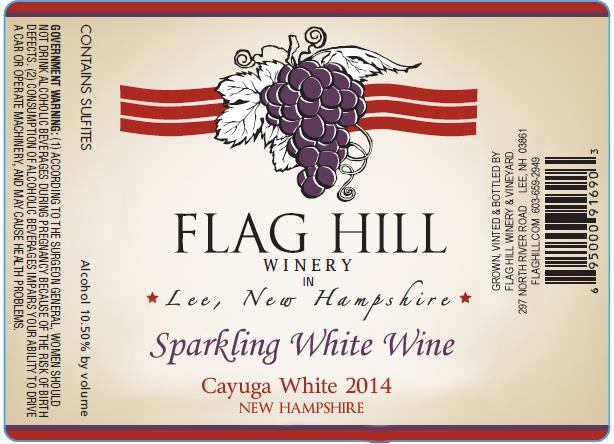 Flag Hill Distillery & Winery Cayuga Sparkling White Wine