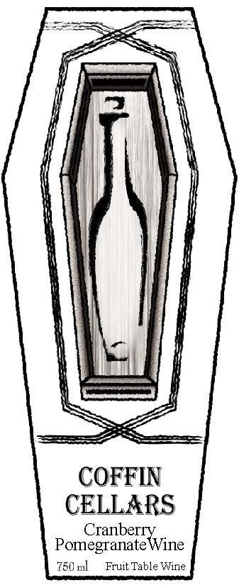 Coffin Cellars Cranberry Pomegranate Wine