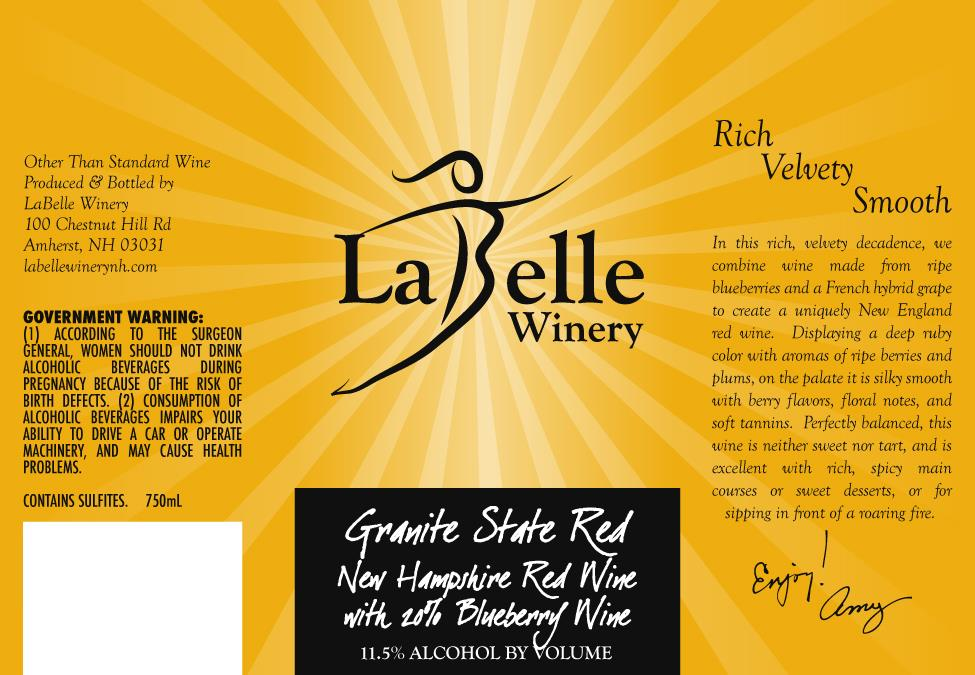 LaBelle Winery Granite State Red