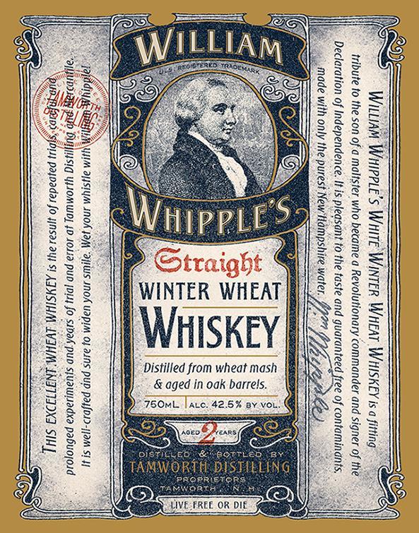 Tamworth Distilling 2 Years Old William Whipple's Straight Winter Wheat Whiskey