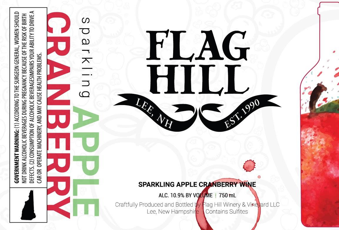 Flag Hill Distillery & Winery Sparkling Apple Cranberry