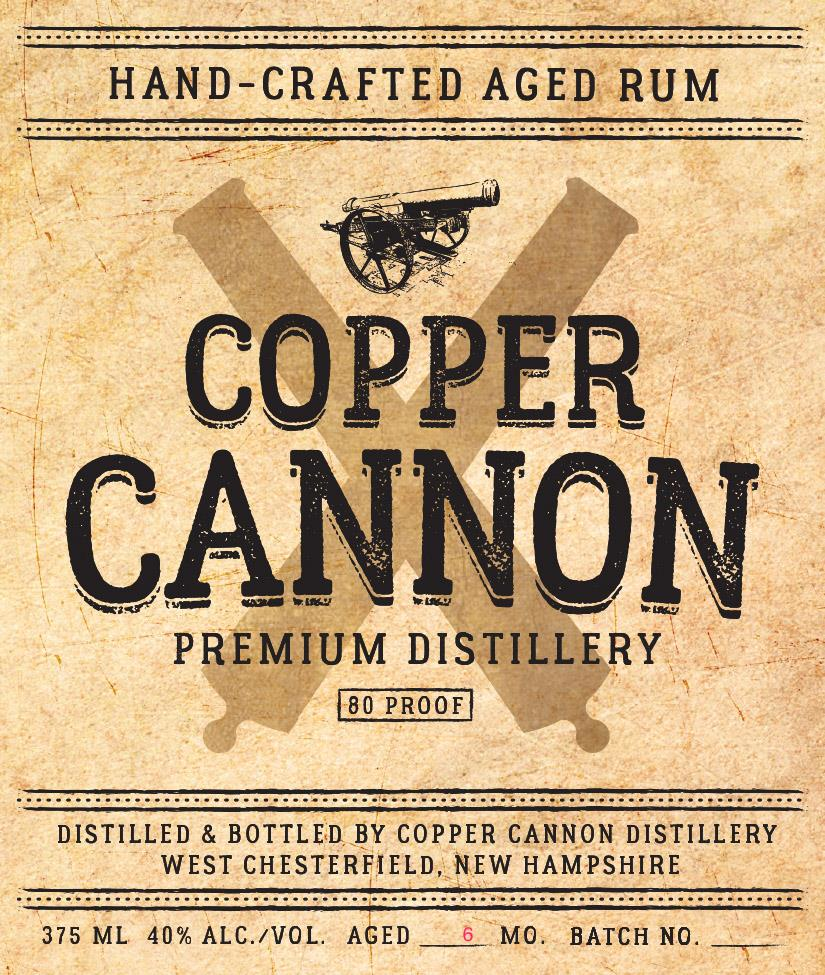Copper Cannon Distillery Hand-Crafted Aged Rum