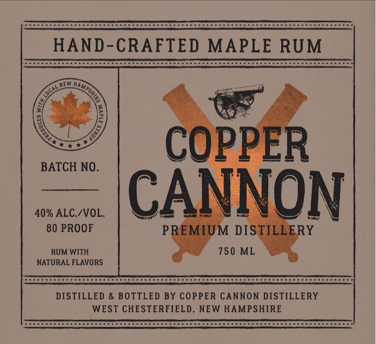 Copper Cannon Distillery Hand-Crafted Maple Rum