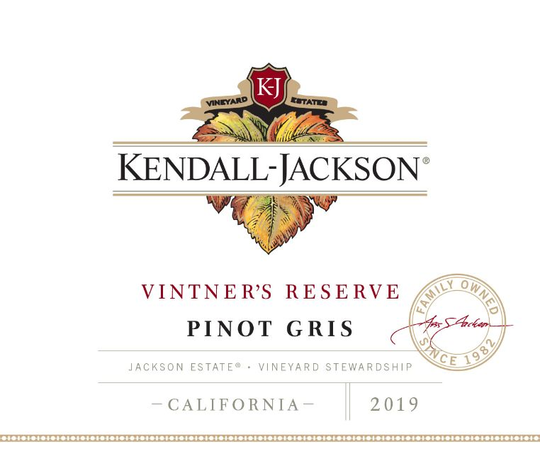 Kendall-Jackson Vintner's Reserve Pinot Gris Jackson Estate California