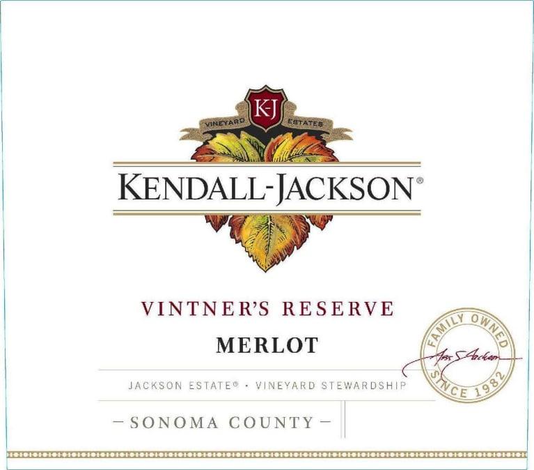 Kendall-Jackson Vintner's Reserve Merlot Jackson Estate Sonoma County