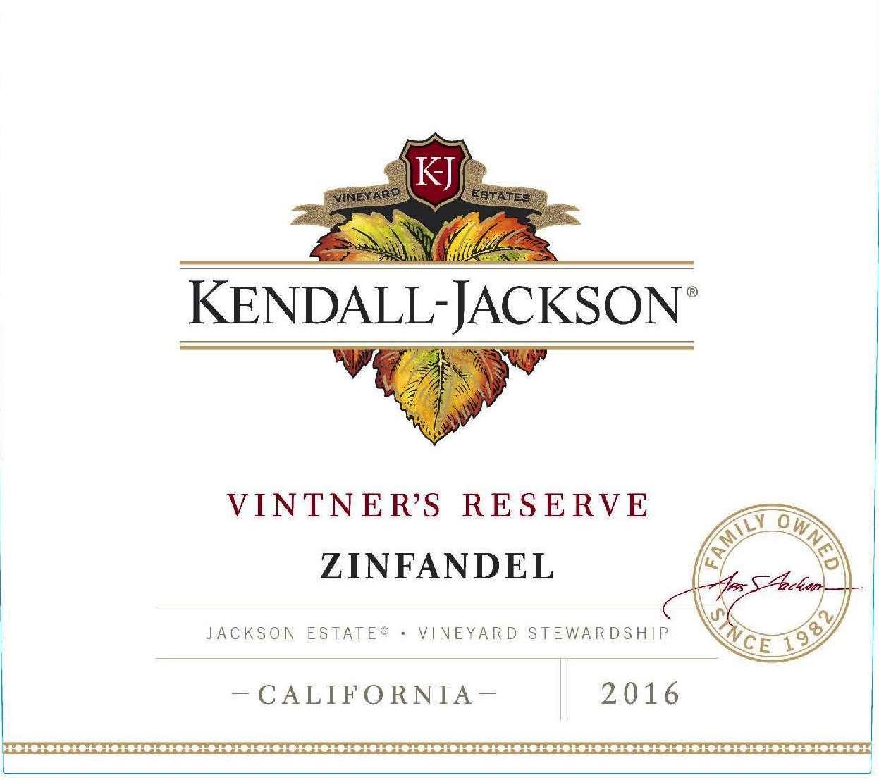 Kendall-Jackson Vintner's Reserve Zinfandel Jackson Estate California