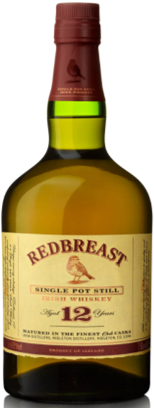 Redbreast Whiskey 12 Years Old Single Pot Still Irish Whiskey