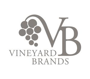 Vineyard brands logo warm gray with text