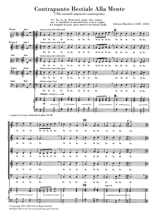 Contrapunto Bestiale (arr. Anthony Petti) Sheet Music