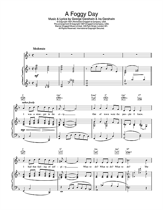 A Foggy Day Sheet Music