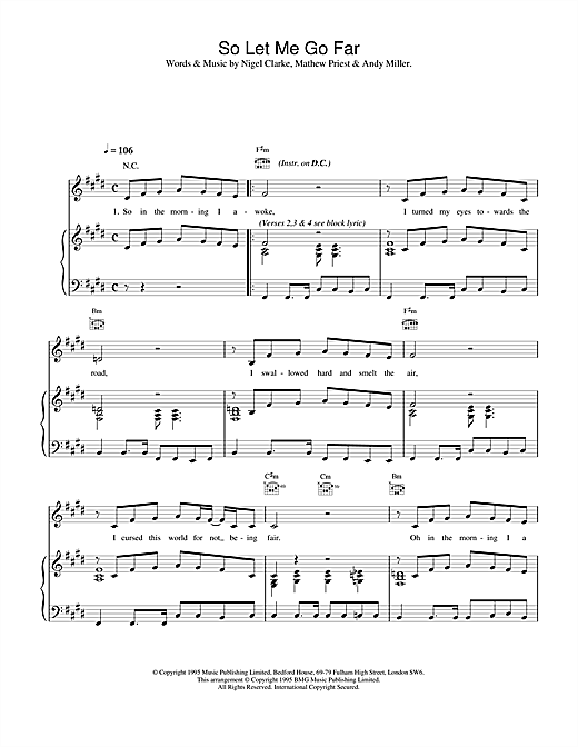 So Let Me Go Far Sheet Music
