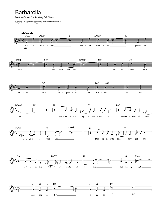 Barbarella (Lead Sheet / Fake Book)