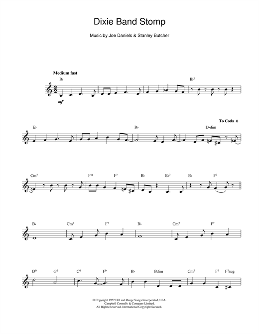 Dixie Band Stomp Sheet Music