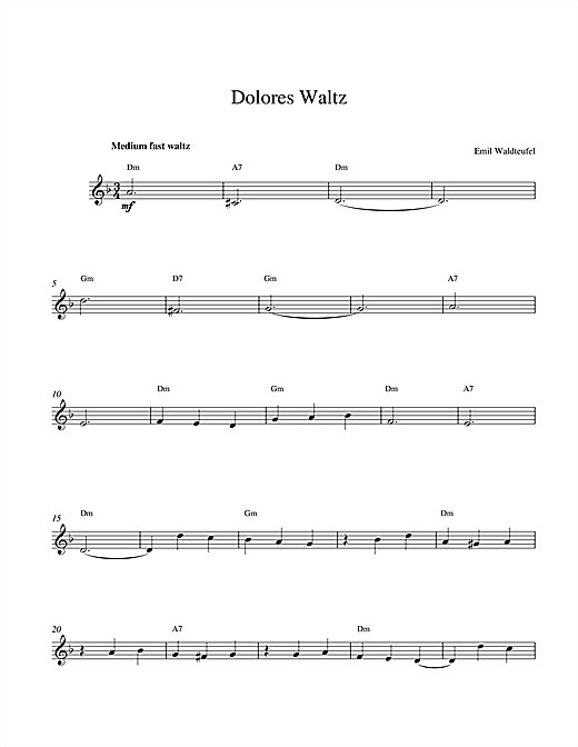 Dolores Waltz Sheet Music