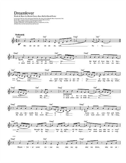 Dreamlover Sheet Music