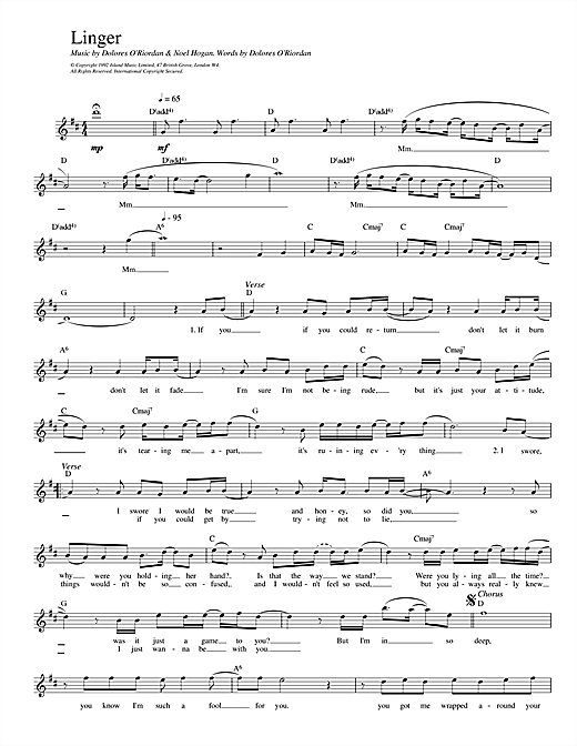 Linger Sheet Music