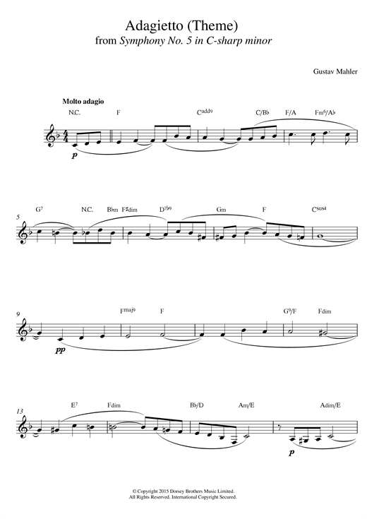 Theme From Symphony No 5 Sheet Music
