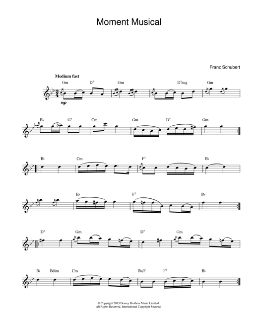 Moments Musicaux, No.3, Op.94 Sheet Music