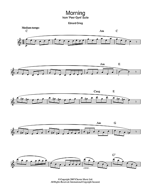 Morning (from Peer Gynt Suite No.1) Sheet Music