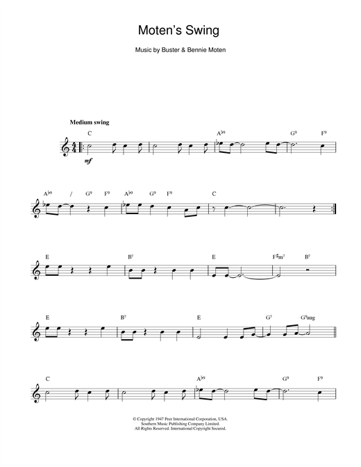 Moten's Swing Sheet Music