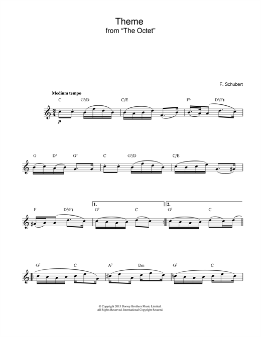 Theme From The Octet Sheet Music