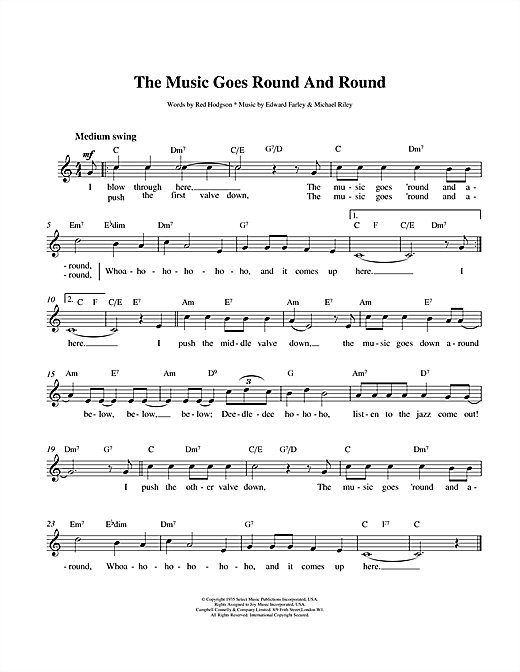 The Music Goes Round And Round Sheet Music