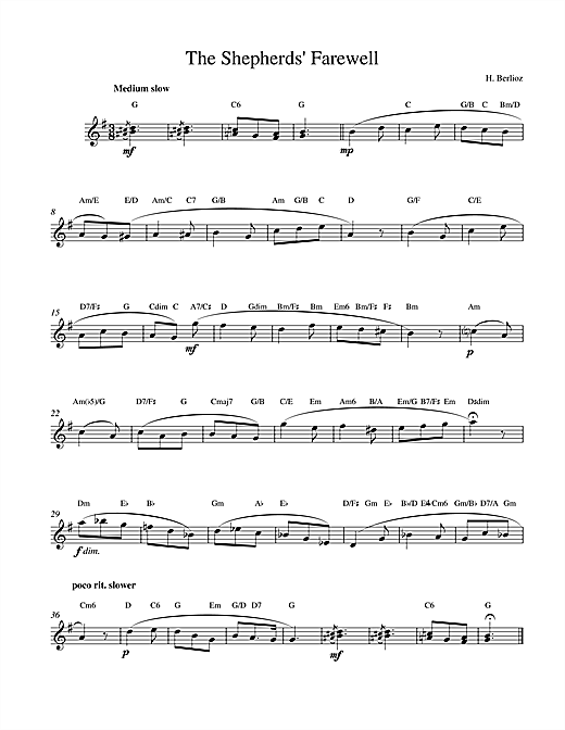 The Shepherds Farewell Sheet Music