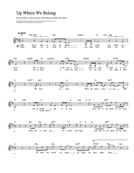 Up Where We Belong (from An Officer And A Gentleman) Sheet Music