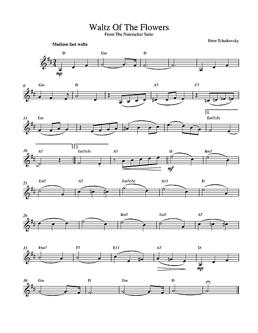 Waltz Of The Flowers (from The Nutcracker) Sheet Music