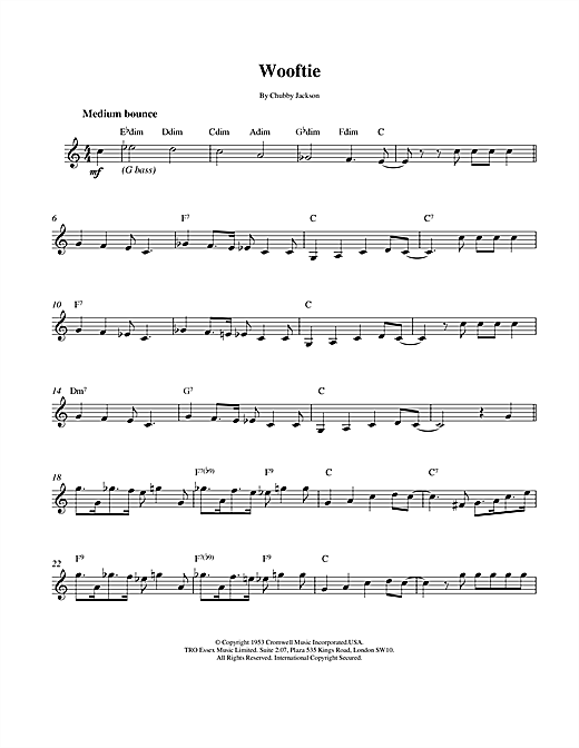 Wooftie (Lead Sheet / Fake Book)