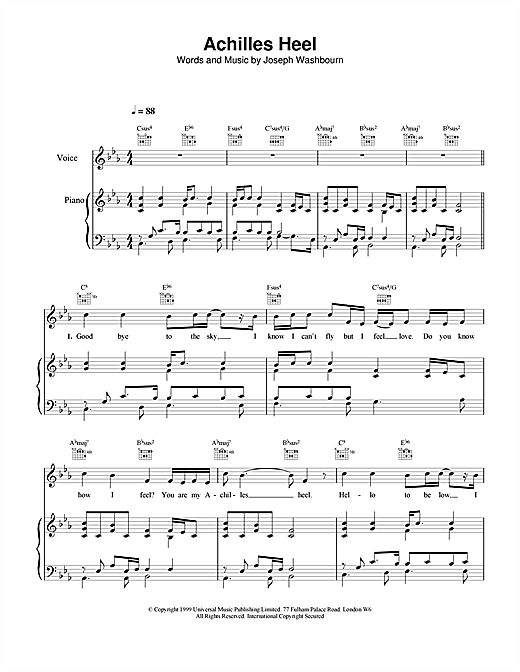 Achilles Heel Sheet Music