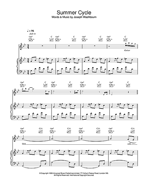 Summer Cycle Sheet Music