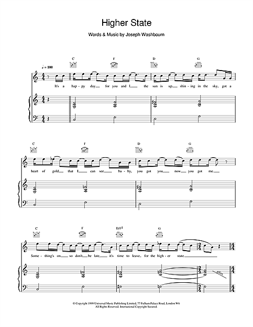Higher State Sheet Music