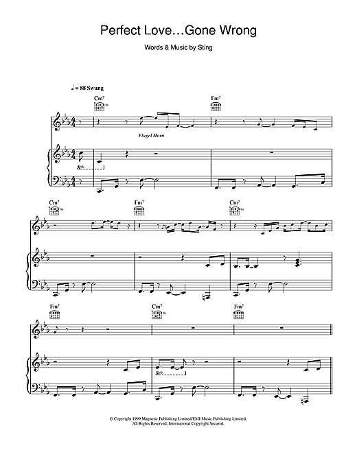 Perfect Love Gone Wrong Sheet Music