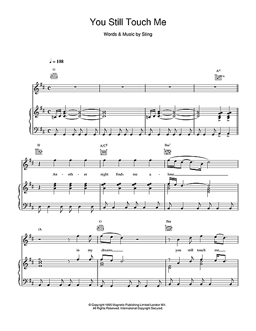 You Still Touch Me Sheet Music