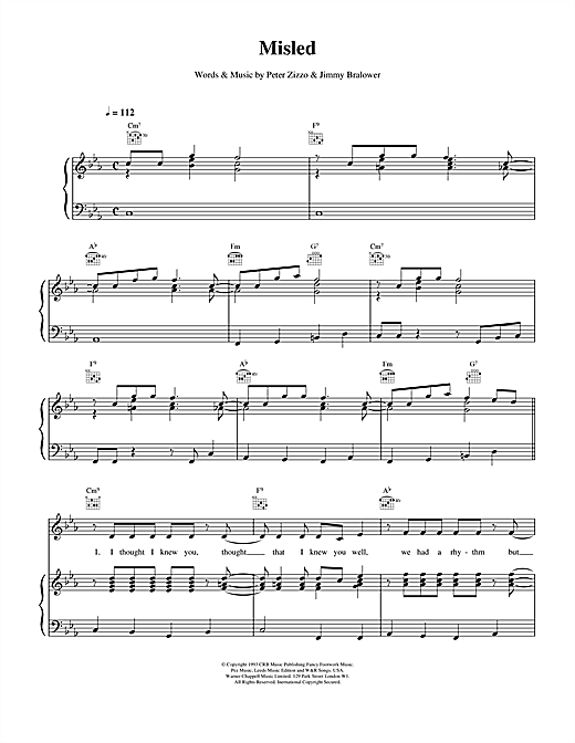 Misled (Piano, Vocal & Guitar (Right-Hand Melody))
