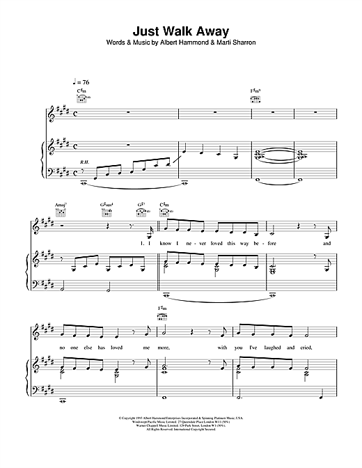 Just Walk Away Sheet Music