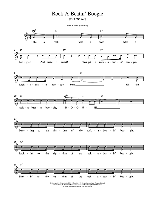 Rock A Beatin Boogie Sheet Music