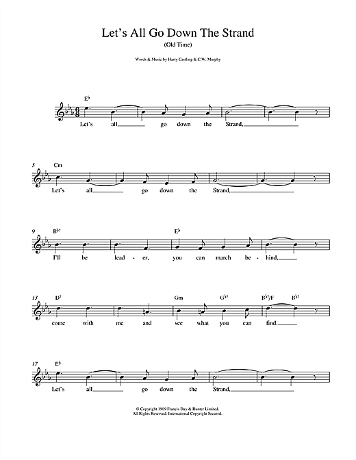 Let's All Go Down The Strand (Lead Sheet / Fake Book)