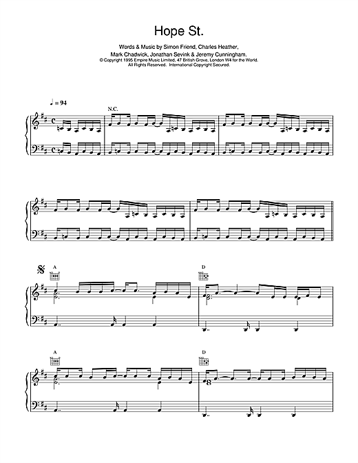 Hope Street Sheet Music