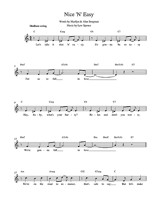Nice 'N' Easy (Lead Sheet / Fake Book)
